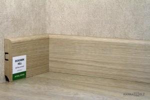 Плинтус МДФ HANNAHHOLZ Aktuell design Дуб берк светлый AD81402.12 81×16мм (м)