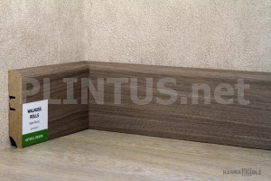 Плинтус МДФ HANNAHHOLZ Aktuell design Орех роллс AD81402.5 81×16мм (м)