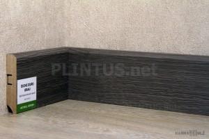 Плинтус МДФ HANNAHHOLZ Aktuell design Дуб европейский серый AD81402.8 81×16мм (м)
