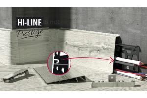 Фурнитура к плинтусу ПВХ Cezar Hi-Line Prestige 75мм